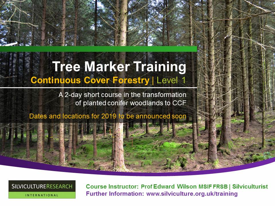 Tree Marker Training | Continuous Cover Forestry | Level 1