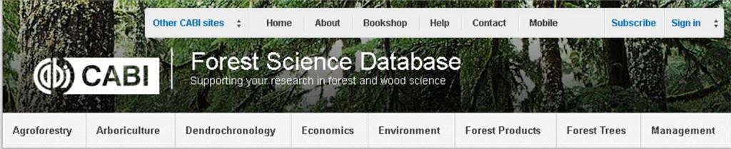 ForestScienceDatabaseCABI